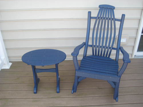 Rocker, Recycled Poly, Amish, Patriot Blue