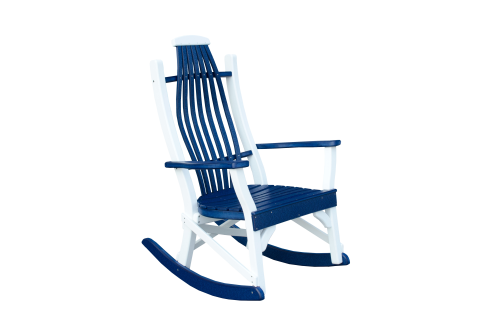 Awesome Rocker Recycled Poly Amish Blue And White Pdpeps Interior Chair Design Pdpepsorg