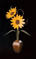 "Sunflower Wood Wildflowers, 20"", (2)"