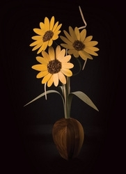 "Sunflower Wood Wildflowers, 22"", (3)"