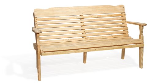 4' Curve Back Bench Recycled Poly