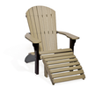 Adirondack Chair and Ottoman, Recycled Poly
